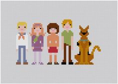 Pixel People Scooby Doo Where Are You PDF by weelittlestitches, $6.00