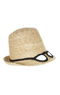 BCBGMAXAZRIA Woven Glasses Top Hat