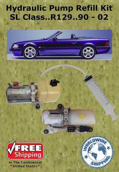 Mercedes Hydraulic Pump Refill Kit SL Class Convertible With Oil Hydraulic Cylinder, Hydraulic Pump, Convertible, Mercedes Benz, Motorcycle, Pumps, Oil, Infinity Dress, Pumps Heels