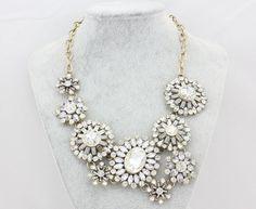Women Statement Necklace,Wedding Necklace,Bib Necklace,Heavy Necklace,Crystal Necklace,Vintage Necklace, (S210167) on Etsy, $19.90