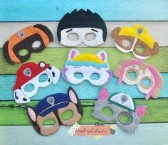 paw patrol / mask / dog mask / paw patrol mask / felt mask / costumes,party favors, birthday party, boy birthday,police dog mask