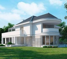 This house plan Pleas Village House Design, Kerala House Design, Small House Design, Modern House Design, Dream House Plans, Modern House Plans, House Floor Plans, Tiny Studio Apartments, Modern Bungalow House