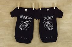 Hey, I found this really awesome Etsy listing at https://www.etsy.com/ca/listing/490870598/drinking-buddies-onesies-matching