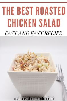 If you have roasted chicken leftovers and you are tired to eat the same this roasted chicken salad is great option. You will not have regrets making it as this recipe is a family hit. Click in the link. Best Roasted Chicken, Roast Chicken Recipes, Fast Easy Meals, Easy Family Meals, Family Recipes, Lunch Recipes, Healthy Recipes, Delicious Recipes, Easy Recipes
