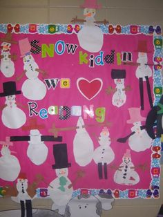 winter bulletin board!