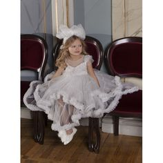 Dolce Bambini βαπτιστικό φόρεμα ασύμμετρο από εκρού τούλι επώνυμο-οικονομικό, Βαπτιστικά ρούχα για κορίτσι τιμές-προσφορά, Dolce Bambini βαπτιστικά ρούχα για κορίτσι νέες παραλαβές, Φόρεμα βάπτισης νέες παραλαβές eshop