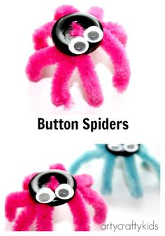 73 Best Button Crafts Images Halloween Crafts Button Crafts
