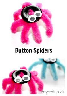Arty Crafty Kids - Craft - Button Spider Easy Kids Craft