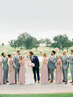 Lavender and Pink Wedding at The Lodge at Torrey Pines Blush And Grey Wedding, Grey Suit Wedding, Blush Wedding Colors, Mauve Wedding, Wedding Men, Wedding Flowers, Dream Wedding, Wedding Ideas, Pink Groomsmen