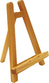como hacer un caballete de madera - Buscar con Google Diy Easel, Wooden Easel, Diy Projects To Try, Wood Projects, Woodworking Plans, Woodworking Projects, Wine And Paint Night, Diy Phone Stand, Table Easel