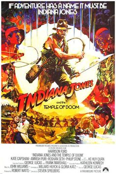 INDIANA JONES and the Temple Of Doom Movie Poster by ICONCENTRAL