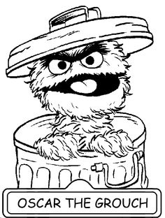 coloring coloring page of oscar and go away sign the grou and letter g coloring pages for kids page educations sheets sesame street charactor coloring - Sesame Coloring Pages