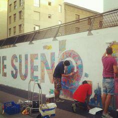 """Photo by @eliaelio -   """"Porque sueño, no estoy loco"""" 11/09/12 20:00h #festivalasalto @festivalasalto @BOAMISTURA"""