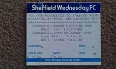 Sheffield Wednesday V Liverpool. Liverpool Football Tickets, Sheffield Wednesday Fc, Premier League