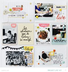 Scrapbook inspiration by Leena Loh (but not scrapping a divided page. Project Life 6x8, X Project, Project Life Scrapbook, Project Life Layouts, Project Life Cards, Project Life Planner, Pocket Scrapbooking, Scrapbooking Layouts, Scrapbook Pages