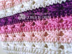 La Magia del Crochet: Punto Lazada a crochet