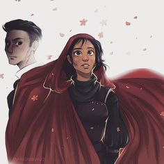 """374 Likes, 8 Comments - Frida Johansson (@fridamarijo) on Instagram: """"Just a rough drawing of Inej and Kaz. I'm rereading the SoC duology and there are so many scenes I…"""""""