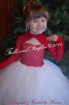 Red and White Flower Girl Tutu Dress, Red and White Christmas Dress, Holiday Photos, Weddings, Formal Occasions,  1t, 2t,3t,4t.5t,6,8,10