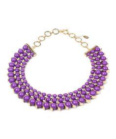 Look what I found on #zulily! Purple Crystal Gypsy Necklace by Amrita Singh #zulilyfinds