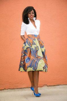 SAIAS DE CAPULANA longas ou curtas moda africana | Bela & Feliz