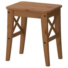 INGOLF Stool, antique stain