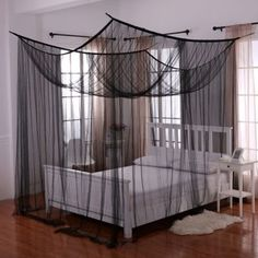 Transform your bed into a magical sanctuary with the Palace Four Poster Bed Canopy . This bed canopy can either be hung from the ceiling or mounted on. 4 Poster Bed Canopy, Four Poster Bed, Teen Girl Bedrooms, Teen Bedroom, Bedroom Decor, Boy Rooms, Guest Rooms, Bedroom Ideas, Dream Rooms
