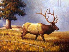 moose paintings | Wandering Moose - More Art, oil paintings on canvas.