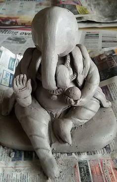 How to Make Ganesh Idol at Home 18