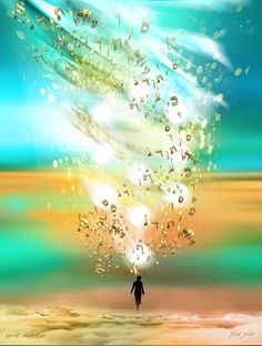 Blessing - a painting of Orit Martin Jewish art, art, prints, Kabbalah, spiritual art, awareness,  jewish meditation, Jewish consciousness, spiritual light, מדיטציה יהודית , התבוננות, שפע, מודעות רוחניות תודעה יהודית, אמנות רוחנית, אור רוחני, אמנות דיגיטלית, אורית מרטין