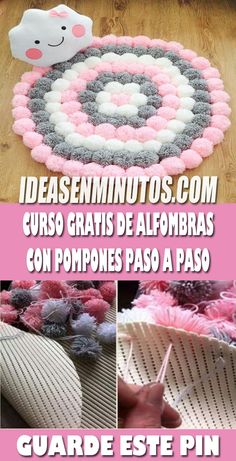 Pom Pom Crafts, Flower Crafts, Diy Crafts To Sell, Home Crafts, Pom Pom Rug, Wedding Stage Decorations, Butterfly Wall Art, Girl Bedroom Designs, Giant Paper Flowers