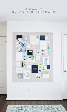 Get inspired! DIY Oversized Inspiration Pinboard
