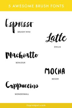 Do you love Brush lettering? Here are some awesome brush fonts to replicate brush lettering, some are free too :) !