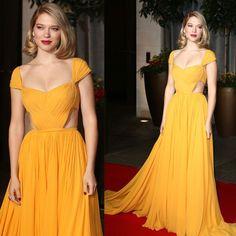 Nice Dresses, Prom Dresses, Amazing Dresses, Formal Dresses, Anchor Dress, Yellow Dress, Fancy Dress, Ideias Fashion, Oscar