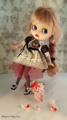 CLAUDIA -VAMPIRE Anne Rice - OOAK CUSTOM BLYTHE doll - by Blythe Fairy Tales #DollswithClothingAccessories