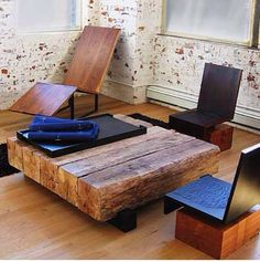 coffee table? from all those railroad ties in the back yard?