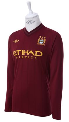 699f1482d Umbro Manchester City 2012 Long Sleeved Away Shirt