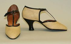 Sandals  French ca.1930  Straw, leather