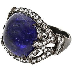 Arunashi Tanzanite and Diamond Ring ($14,400) ❤ liked on Polyvore