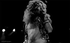 Robert Plant, doing what he does best!