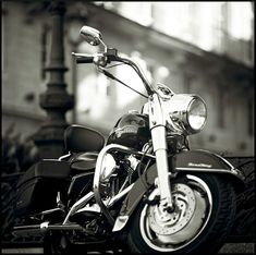 Motorcycle in Black & White.