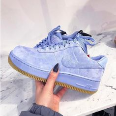 Adidas Women Shoes - Sneakers women - Nike Air Force 1 Upstep blue (©broganwest) - We reveal the news in sneakers for spring summer 2017