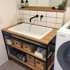 Metal Furniture, Diy Furniture, Furniture Design, Small Toilet Room, Small Bathroom, Modern Square Coffee Table, Minimal House Design, House Outside Design, Wooden Floating Shelves