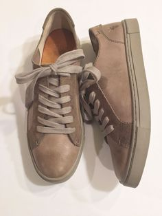 801b429a582f Frye Womens Size 7M Leather Oxford Shoes Brown or Taupe Low Top Sneakers  VGUC  fashion