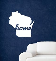 State Decal, State Wall Decal, Home wall decal, Home state wall decal, Home State decal, Home State, State Home, State wall decor