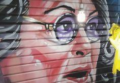 Graffiti portrait of Roseanne Barr seen in Jerusalem's Mahaneh Yehuda market Photo By: Courtesy