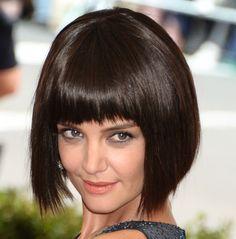 Katie Holmes Debuts Bob Hairdo in Open Back Zac Posen Gown