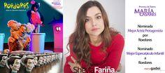 """Sheyla Fariña nominada Mejor Actriz Protagonista XIX Premios de Teatro María Casares por """"Roedores"""" Página Sheyla Fariña http://marcogadei.com/sheylafarina/ #Actor #filmjobs #filmindustry #filmmaking #entertainment #entertainmentindustry #filmresources #filmmakers #production #media #film #tvjobs #productionindustry #postproduction #filmcareers #actors #directors #producers #screenwriters #film #setlife #filmcrew #fimlife #Actriz"""