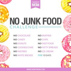 Junk Food CAN YOU DO IT? We challenge you to not eat ANY junk food for 10 DAYS! This includes muffins, chips, fast food and ice cream! Are you up for the challenge? COMMENT BELOW if you're in We got this! No Junk Food Challenge, 10 Day Challenge, Health Challenge, Water Challenge, Weight Loss Challenge, Workout Challenge, Healthy Meals For Kids, How To Stay Healthy, Healthy Eats