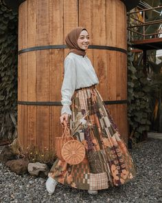 Thanks for the inspiring outfit from Modern Hijab Fashion, Hijab Fashion Inspiration, Muslim Fashion, Modest Fashion, Style Inspiration, Mode Outfits, Fashion Outfits, Casual Hijab Outfit, Ootd Hijab
