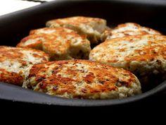 Hambúrguer de frango com ricota e farelo de aveia